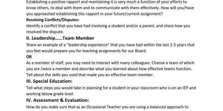 Sample Interview Questions for