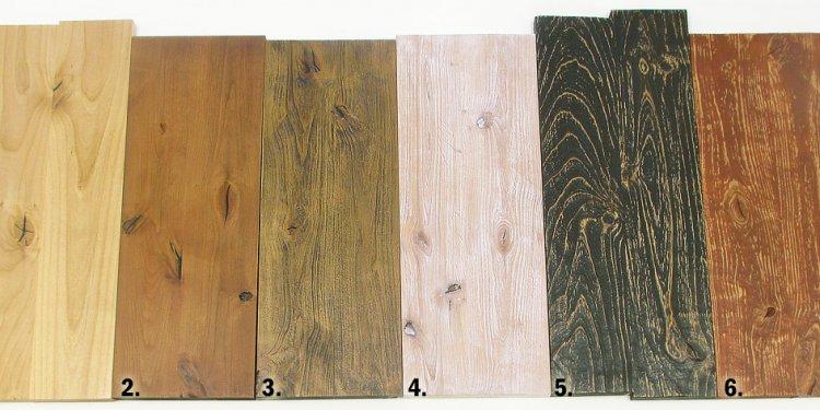 Rustic wood finish techniques