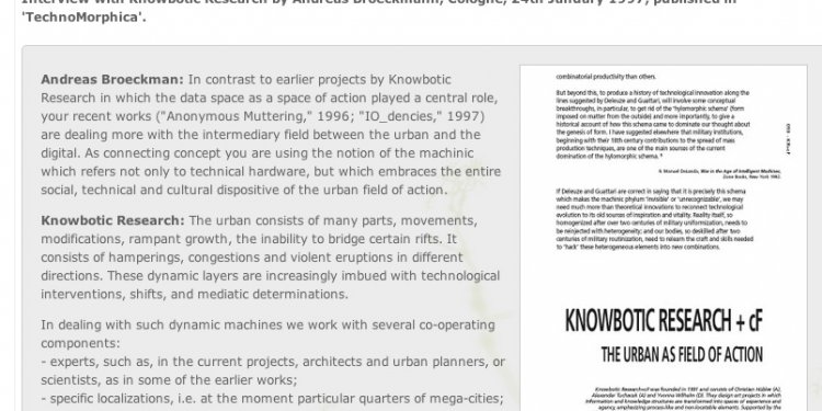 The Urban as a Field of Action — V2_ Institute for the Unstable Media